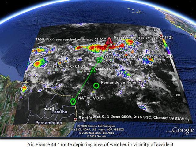 AF 447 map