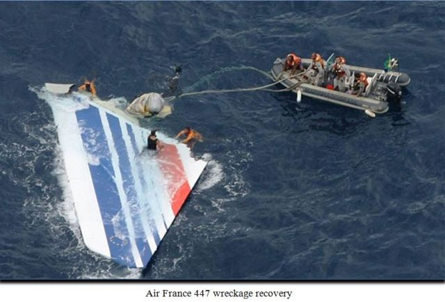 af 447 wreckage recovery