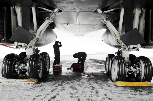 Cold and snow no obstacle for Ellsworth maintainers